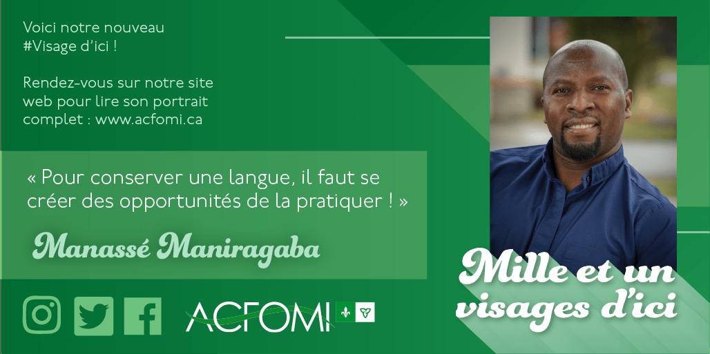Mille et un #visages d'ici : Manassé Maniragaba