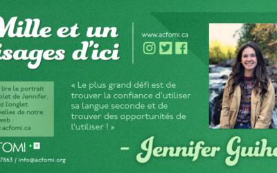 Mille et un #visages d'ici : Jennifer Guiho